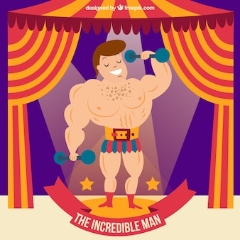 The increible man in the circus