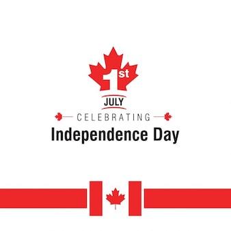 독립 캐나다 하루 배경