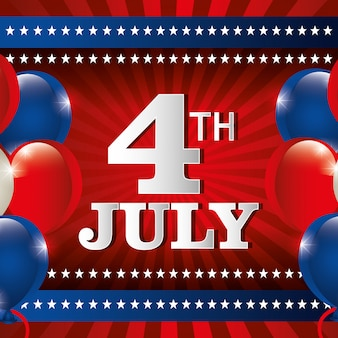 Independence day 4th july celebration in united states of america