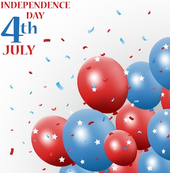 Independence day 4th july with balloon