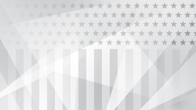 Independence day abstract background with elements of the american flag in gray colors