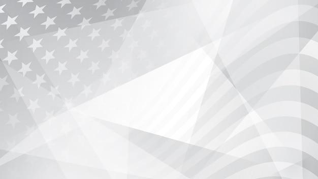 灰色のアメリカ国旗の要素と独立記念日の抽象的な背景