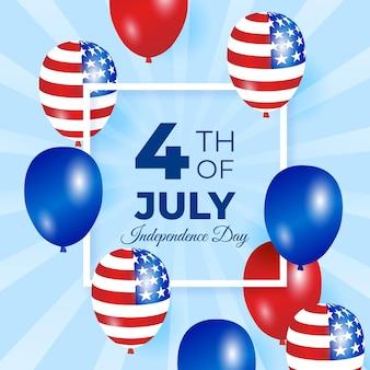 独立記念日の背景デザイン