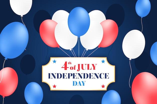 独立記念日の背景のフラットデザイン