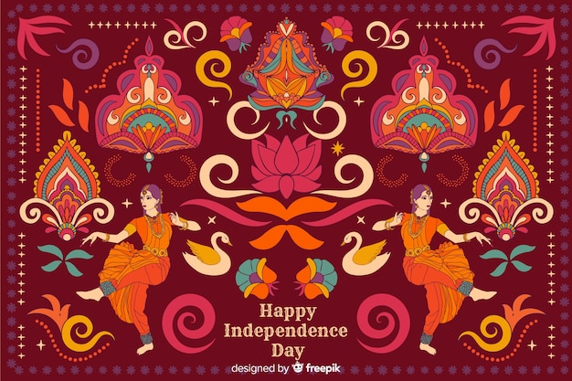Independence day background in indian art style