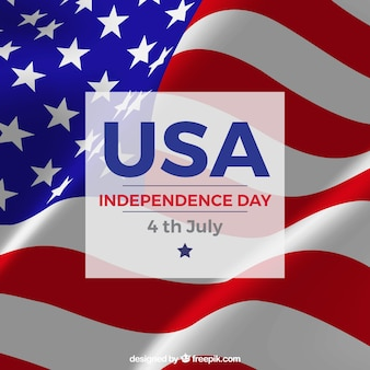 Independence day background in realistic design