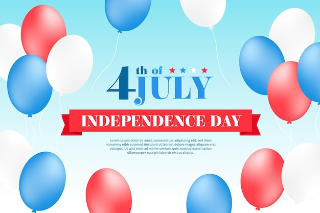 独立記念日の背景スタイル