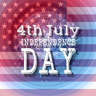 Independence day background con la bandiera americana