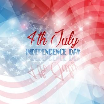 미국 국기와 함께 독립 기념일 배경