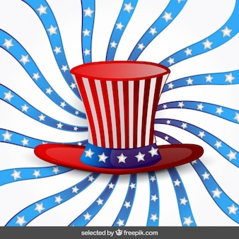Independence day background with hat