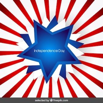 Independence day background with sunburst