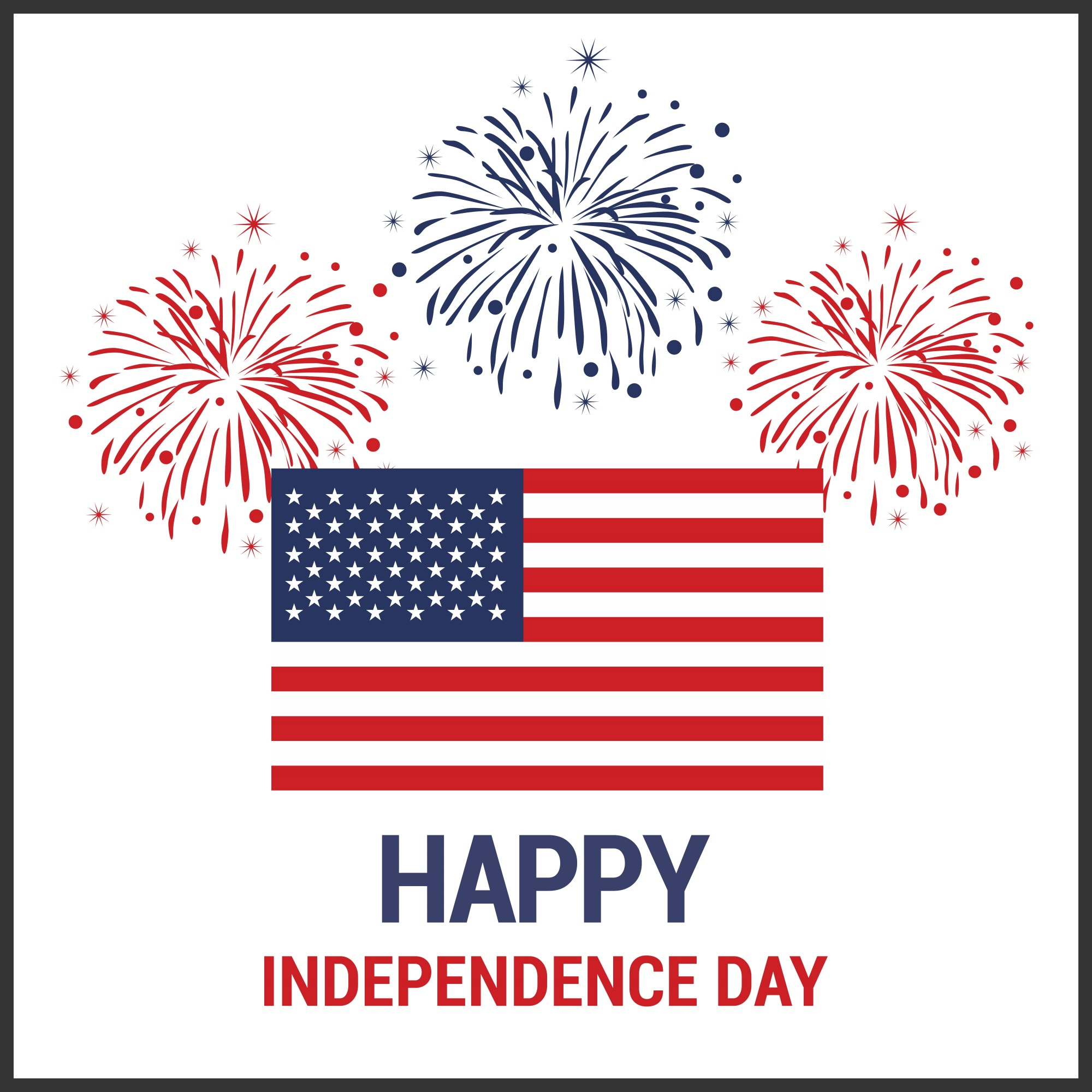 Independence day background with us flag