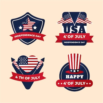Independence day badges collection