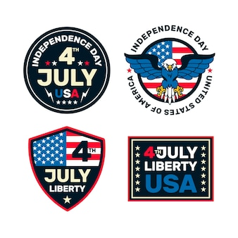 Independence day badges design