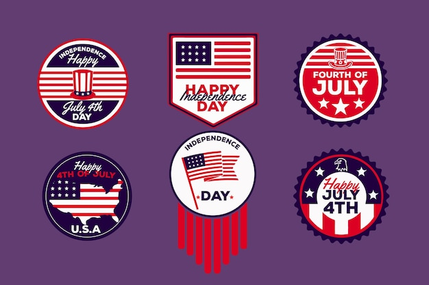 Independence day badges theme