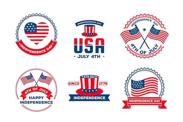 Distintivi per il giorno dell'indipendenza