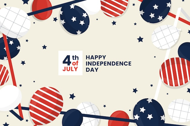 Independence day balloons wallpaper