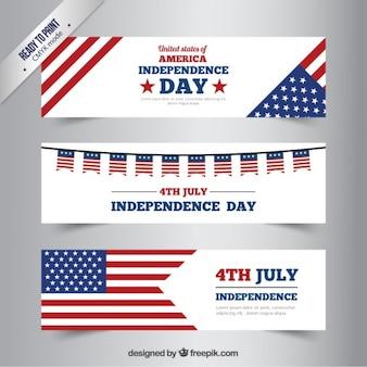 독립 기념일 배너 세트