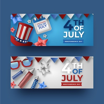 Independence day banners template