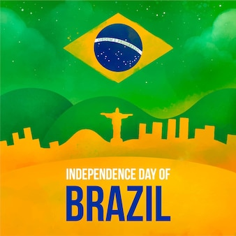 Independence day of brazil concept