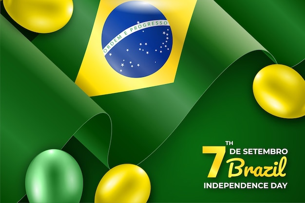 Independence day of brazil event background