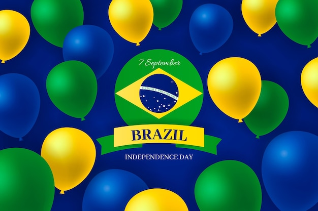 Independence day of brazil realistic background