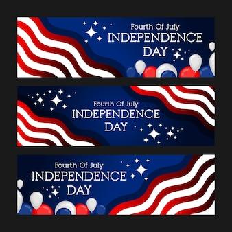 Набор баннеров празднования дня независимости