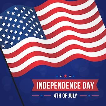 独立記念日のお祝いフラットデザイン