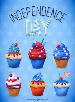 독립 기념일 컵 케이크 컬렉션
