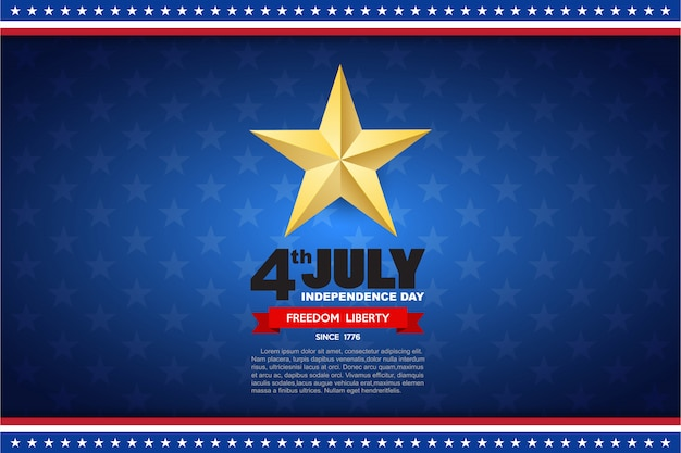 Independence day design element background