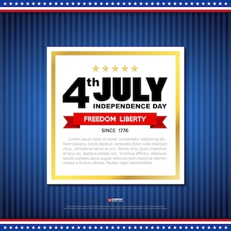 Independence day design element