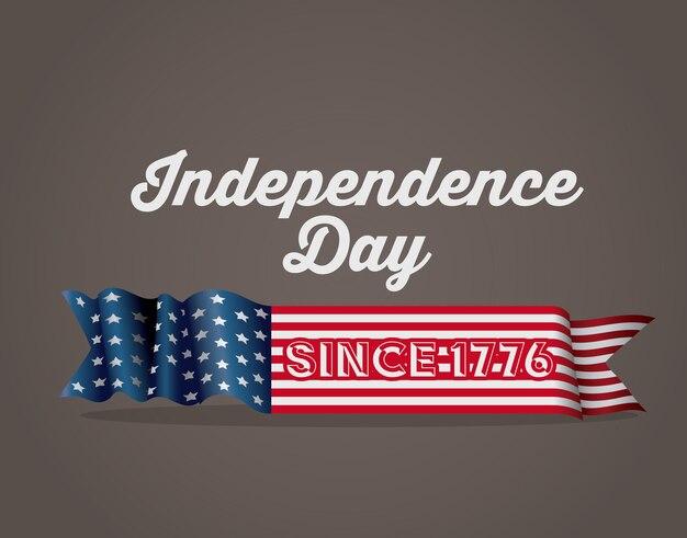 独立した日のデザイン、茶色の背景