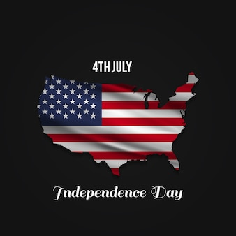 Independence day design with usa map Free Vector