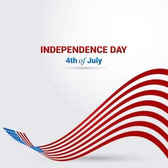 独立記念日の旗の背景
