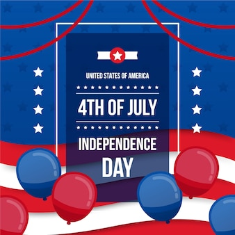 Independence day flat balloons design