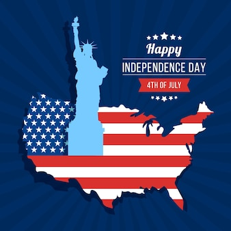 Independence day flat design