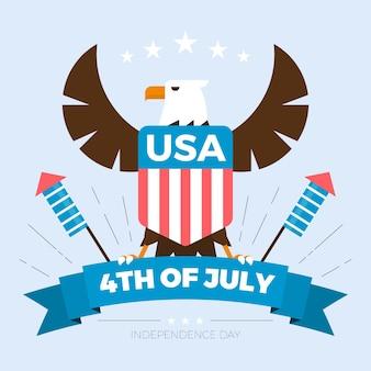 独立記念日のイラスト