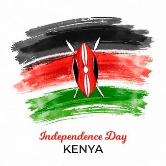 旗が描かれたケニアの独立記念日