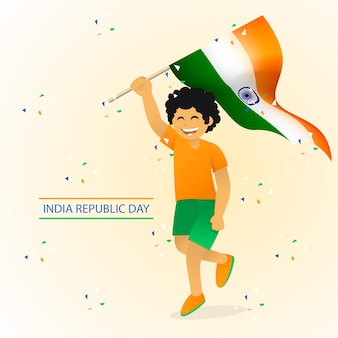 Independence day india illustration