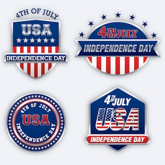 Independence day labels collection