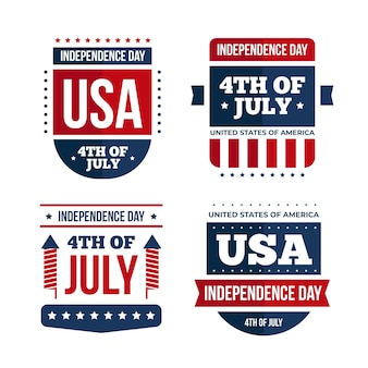 Independence day labels design