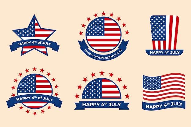 Independence day labels design