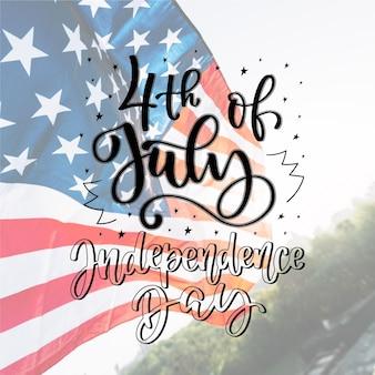 Concetto di lettering festa dell'indipendenza