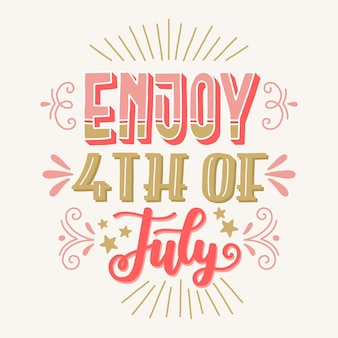 Independence day lettering design