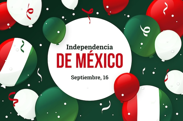 Independence day of mexico background with balloons