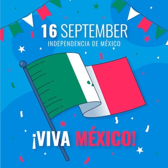 Independence day of mexico banner