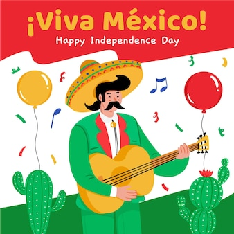 Independence day of mexico celebration