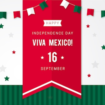 Independence day of mexico concept