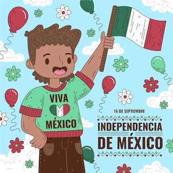 Independence day of mexico illustration