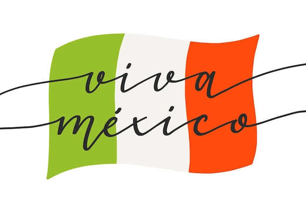 Independence day of mexico lettering